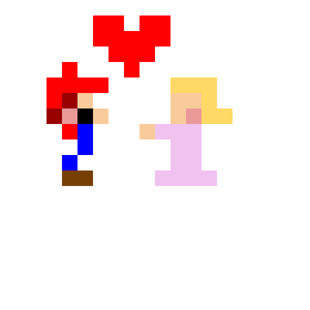 Mario gets Princess Peachs kiss