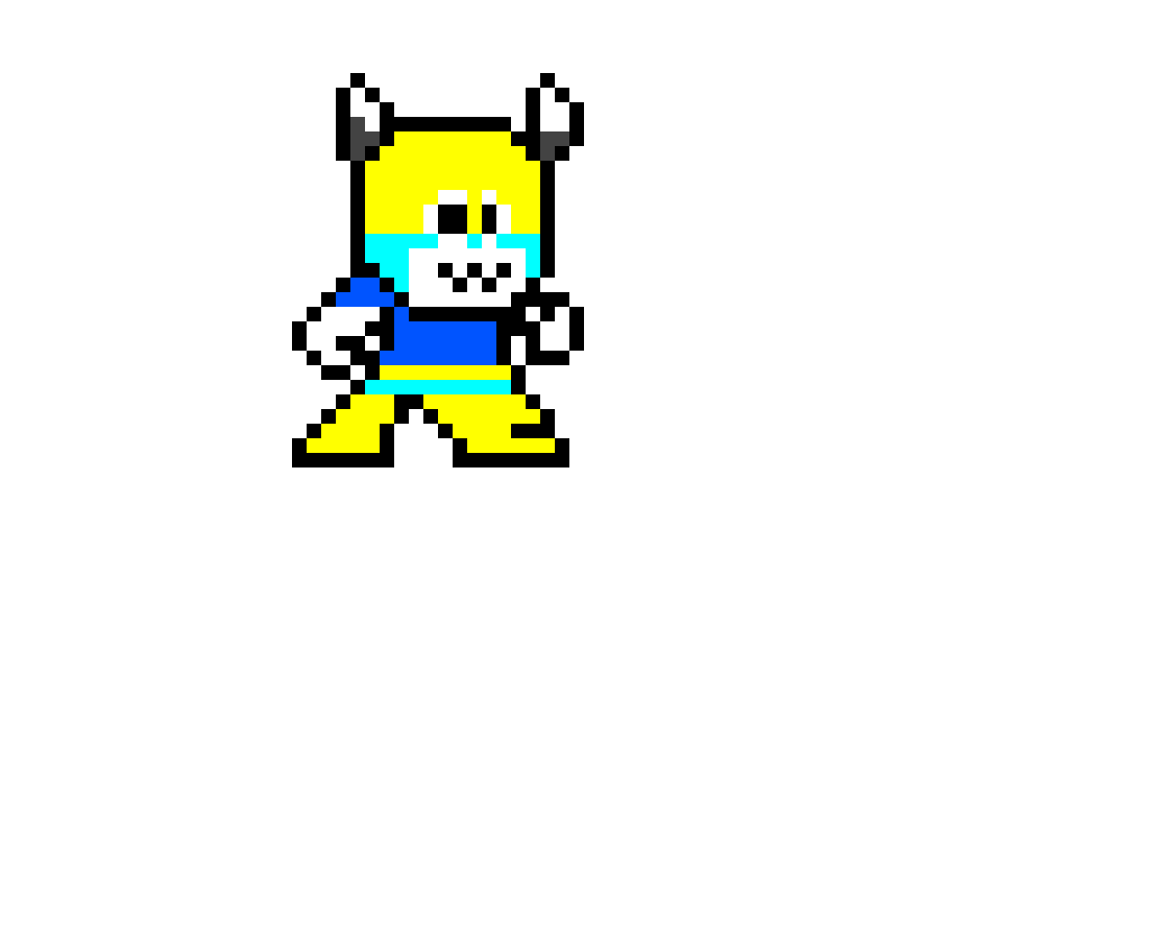 I made @temcareforeg in a Mega Man style