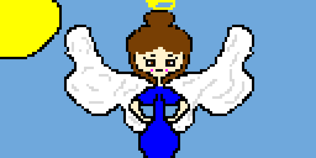 me with wings and a halo