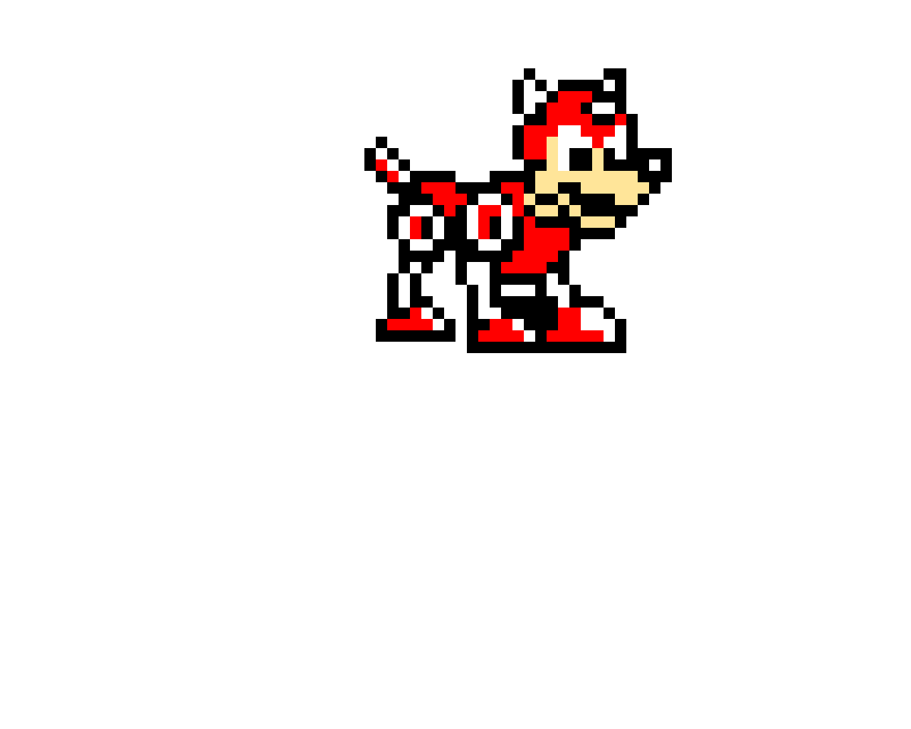 Rush from Mega Man (Mega Man's robotic dog) I tried..