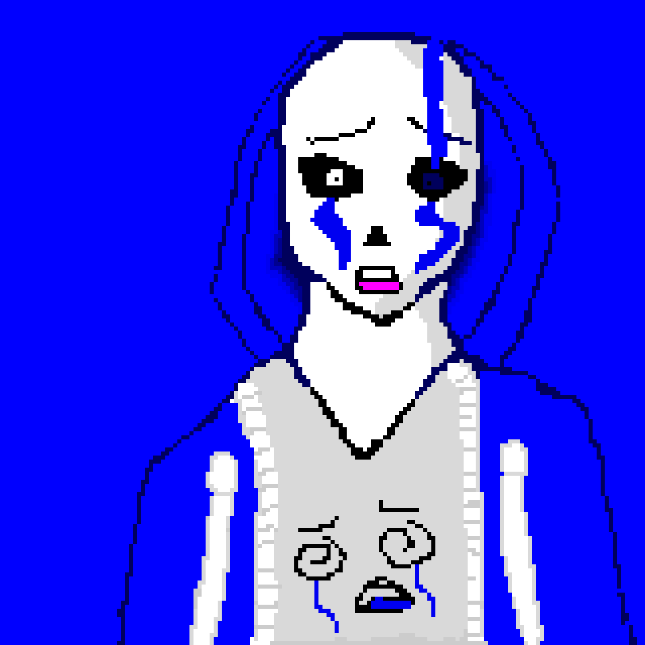 sad sans(the other one is heartbroken as you can tell)