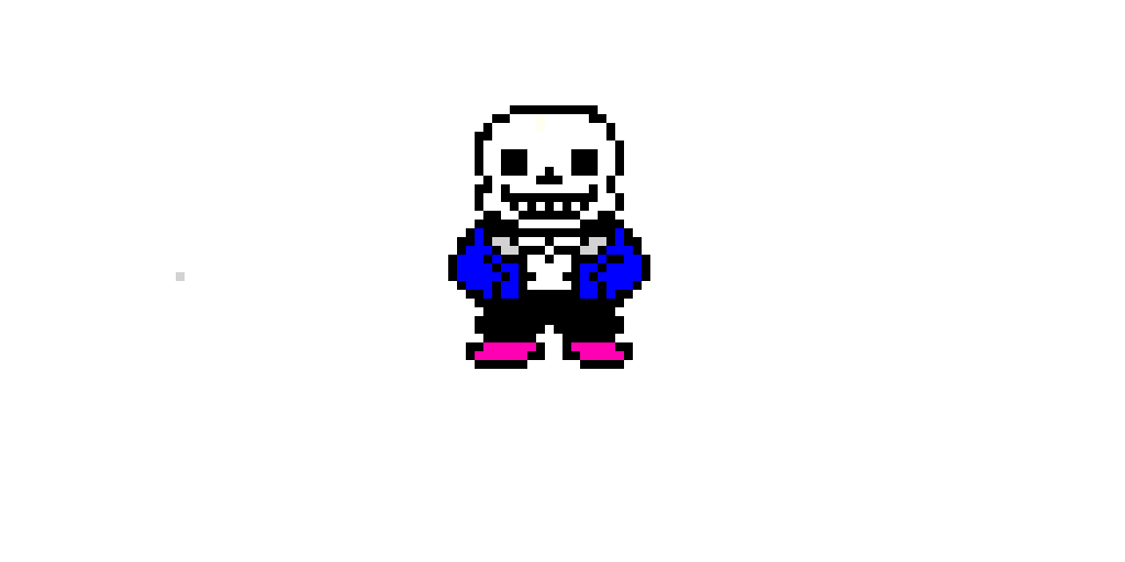 sans how the sprite in this art website should be