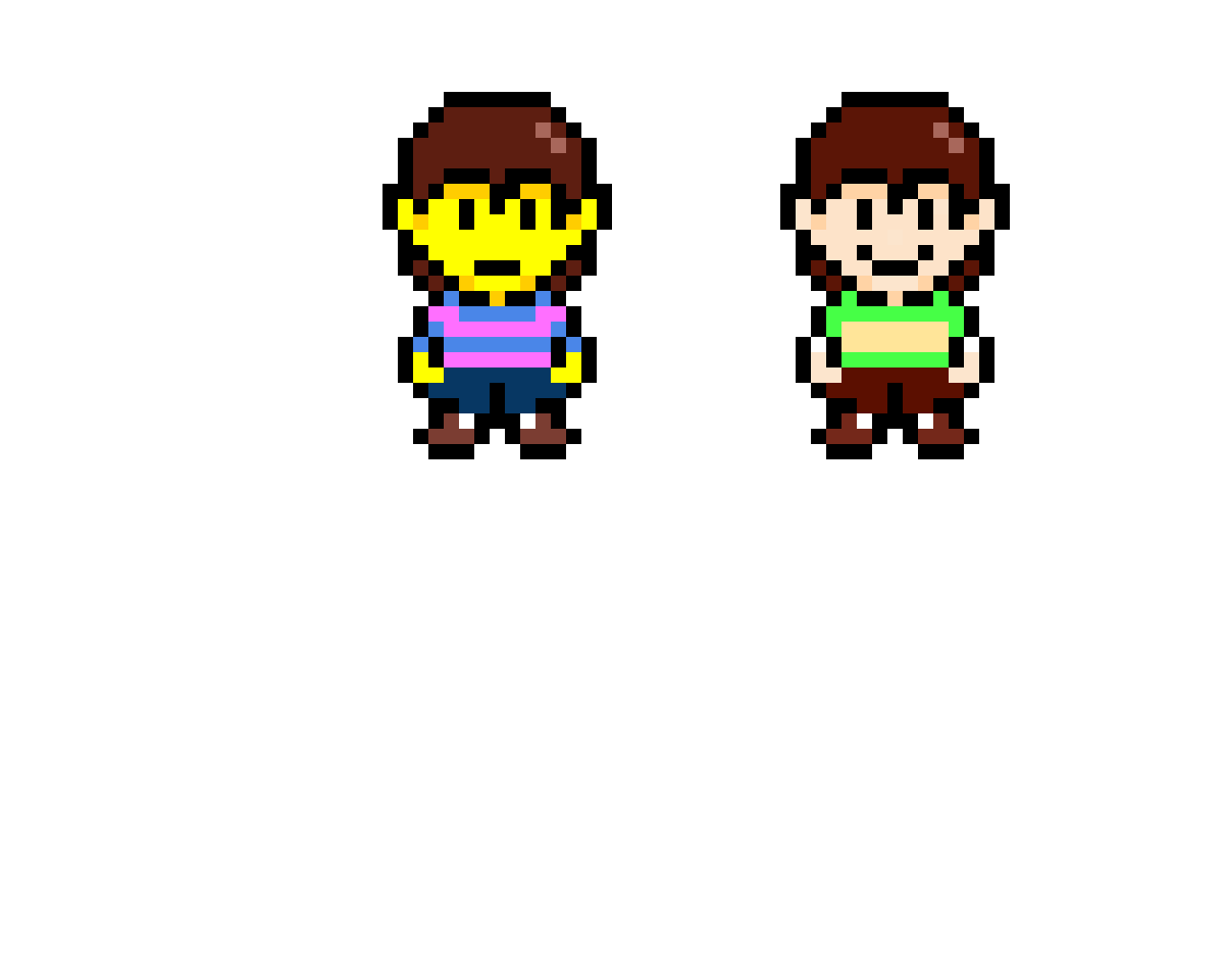 Frisk and Chara Earthbound Style (Contest)
