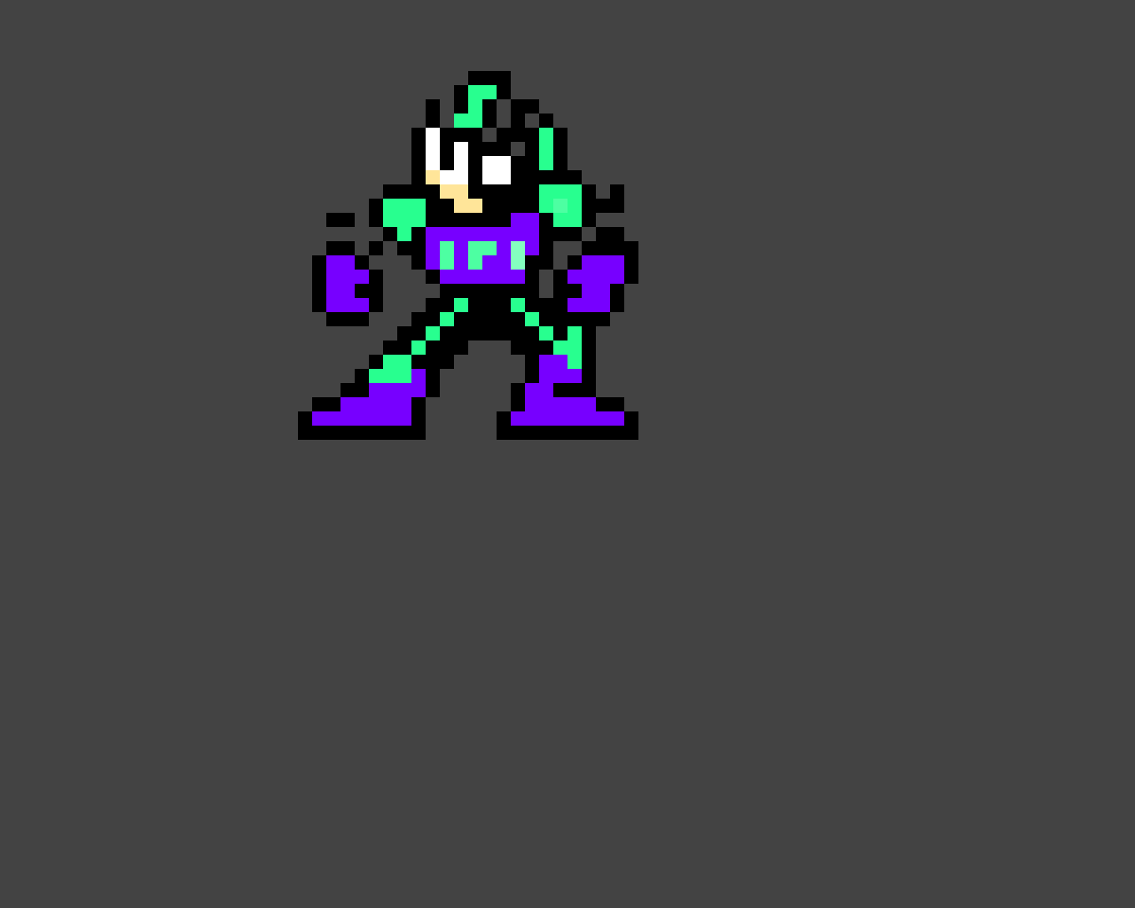 Cheat Man (Rockman Cx) ((A wrong color is in there))