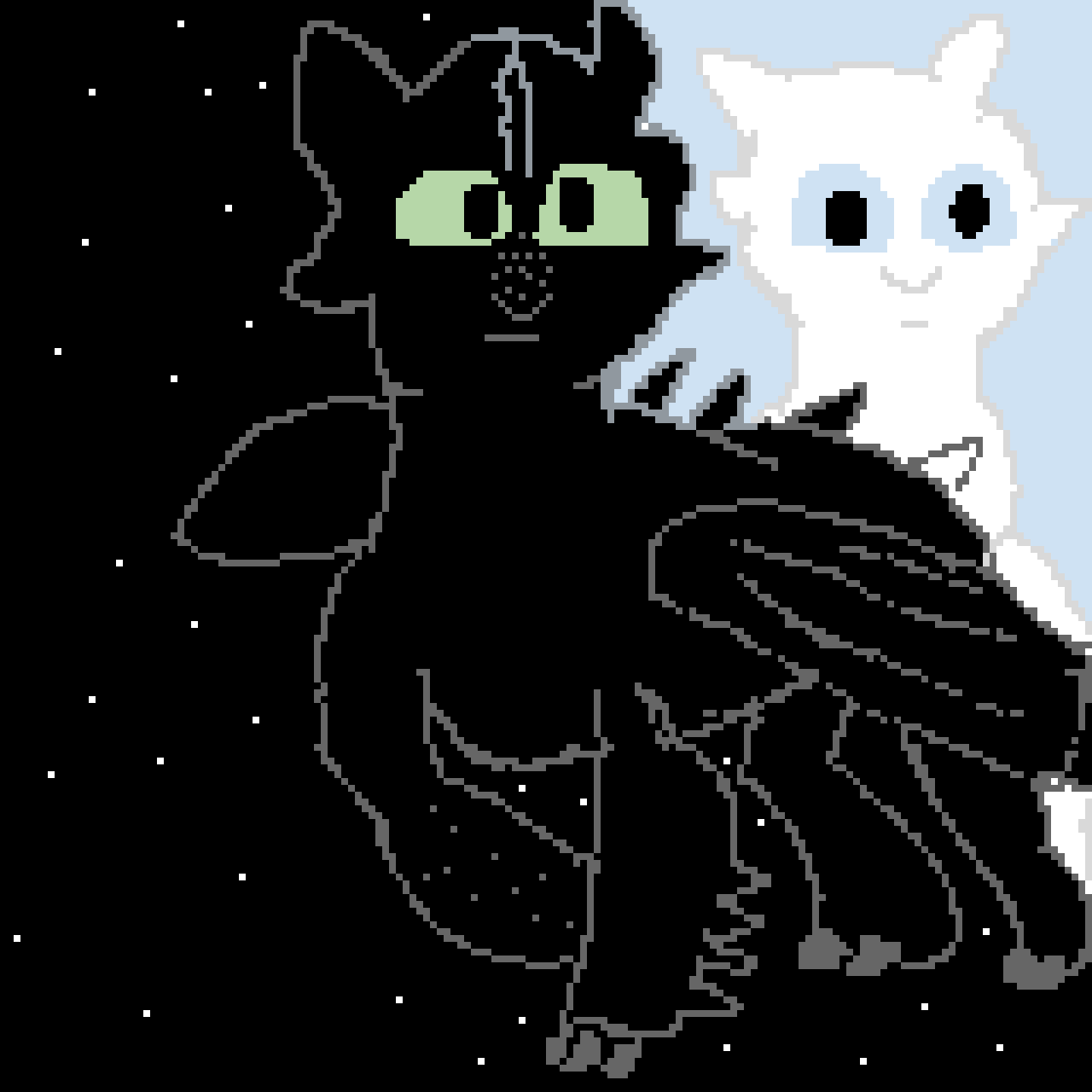 Toothless and Light Furry my version (How to train your dragon)