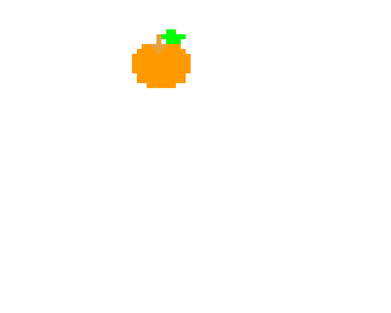 Orange pac man bonus item