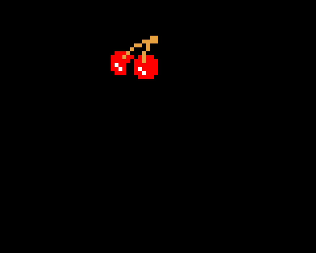 Pac man cherry bonus item