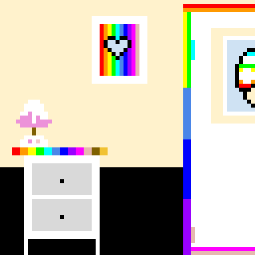 Rainbow Room ( 2nd version of Pastel Room)