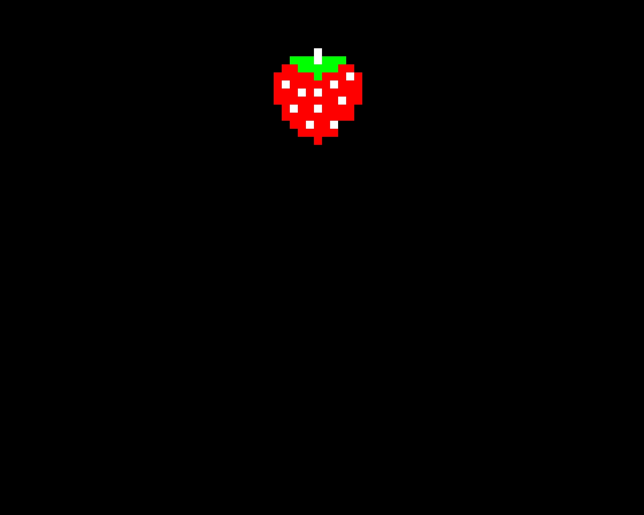 Strawberry pac man bonus item