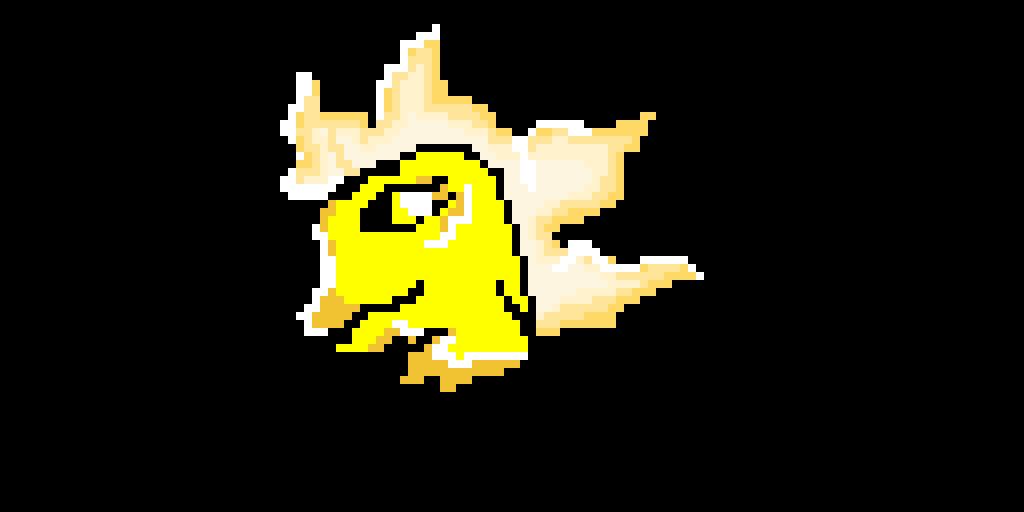 Yellow Dino Blinks or Winks