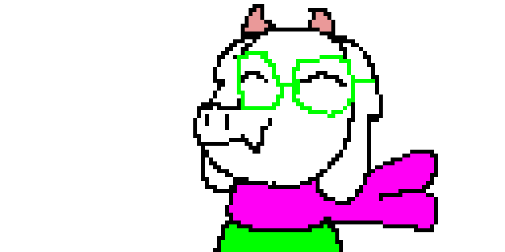 Ralsei from Deltarune at the end of the game! <3 So cute!