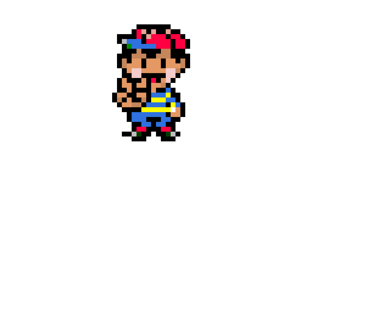 Ness from Earthbound (Might be wrong colors, fix if u can)
