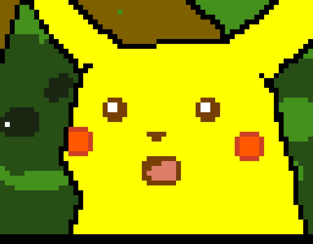 Suprised Pikachu Face