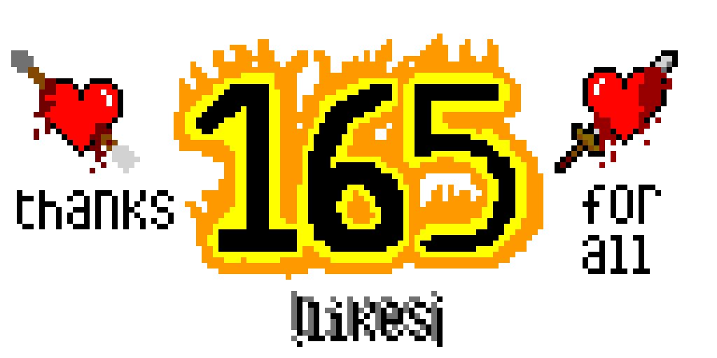 165 likes celebration (thanks)