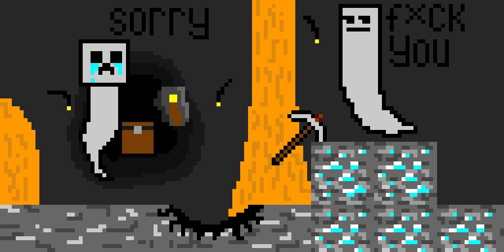 accident in the mine (Minecraft contest)
