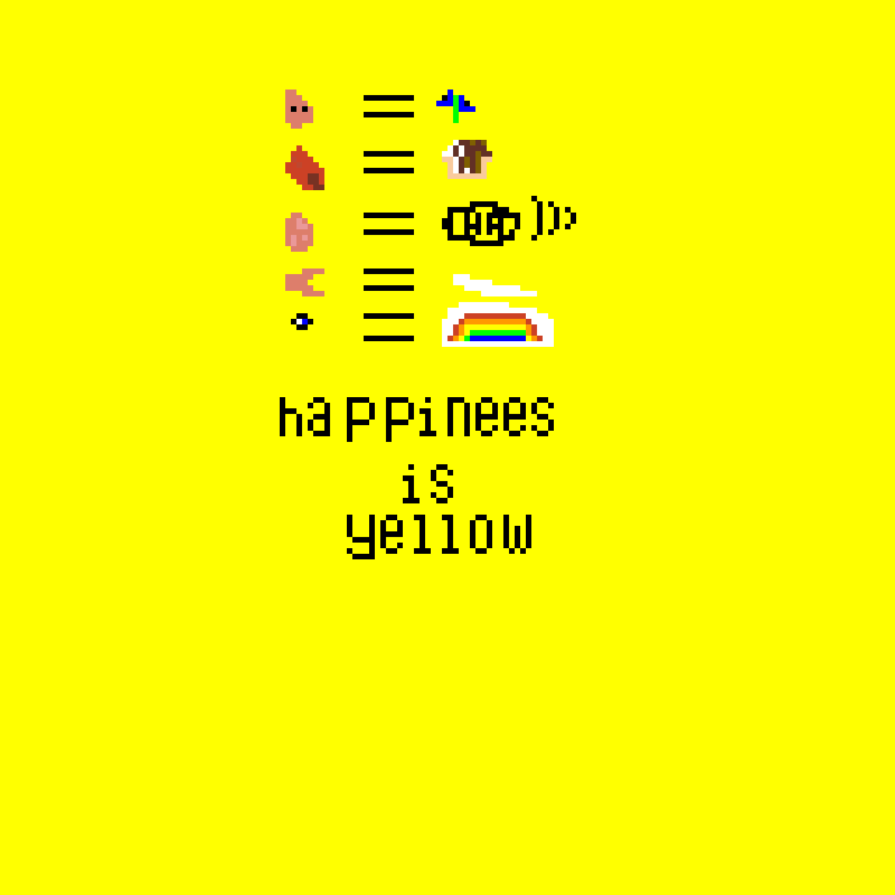 Happiness is yellow(another poem for school's illisration)