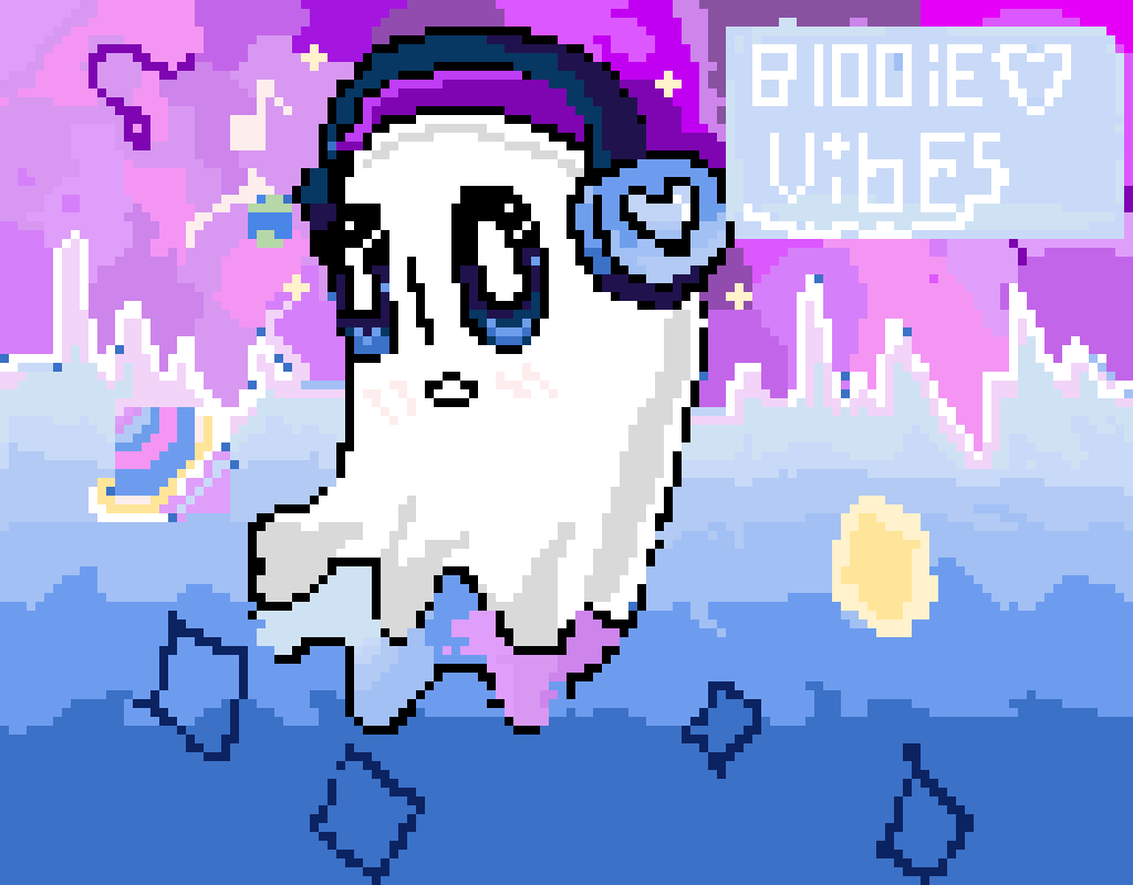 recomended by @vicedump! Napstablook-blookie vibes