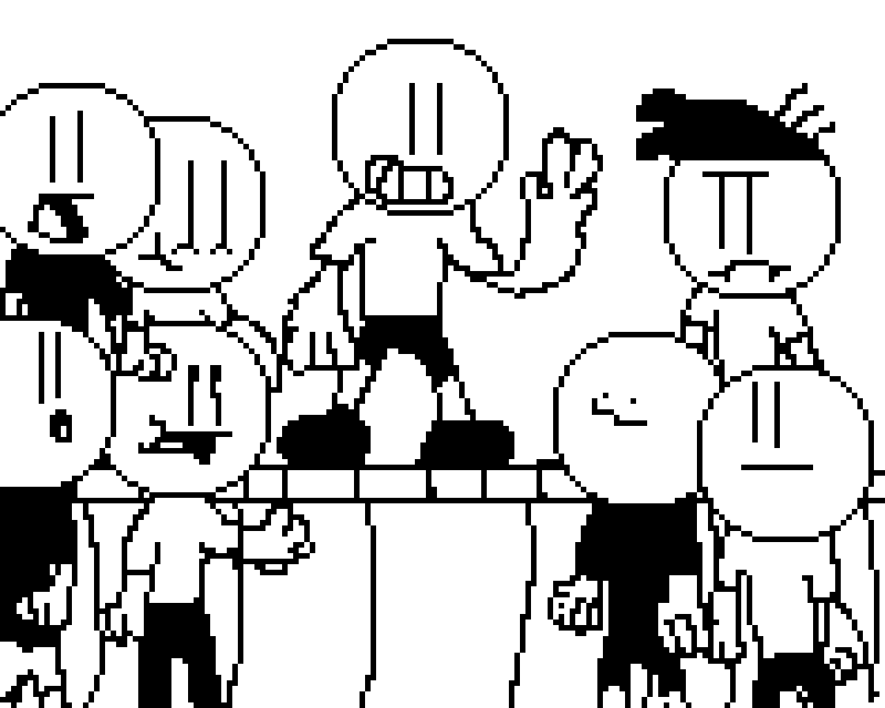 Black And White Stage (Cartoon Contest)