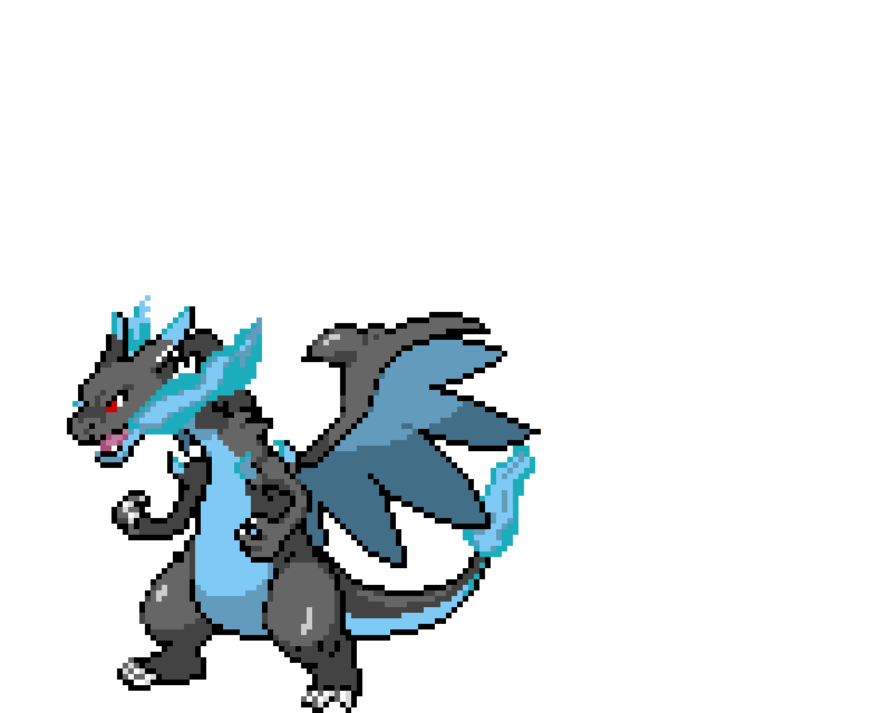 Mega Charizard/ blue fire version