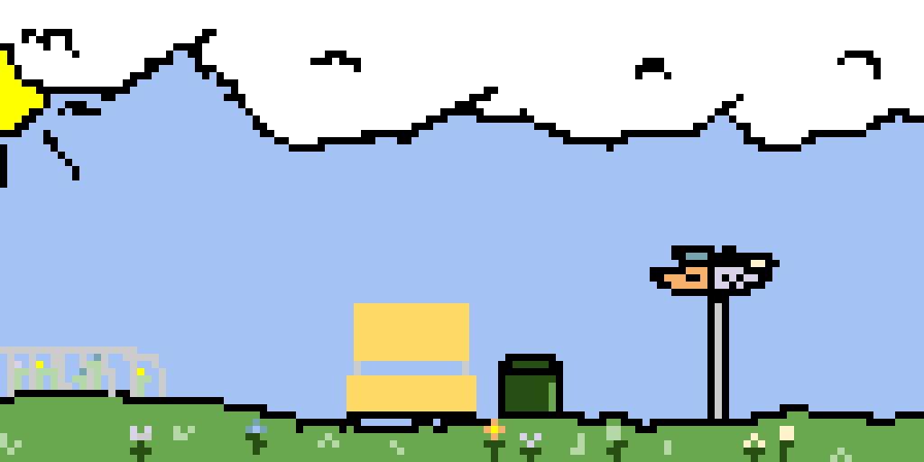 yourpetshiba suggested more flowers in this pixel art so i added more flowers!