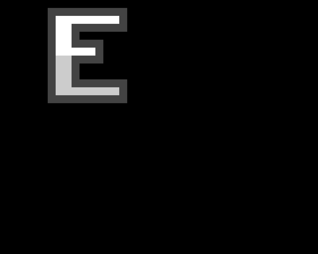 pixel letter E