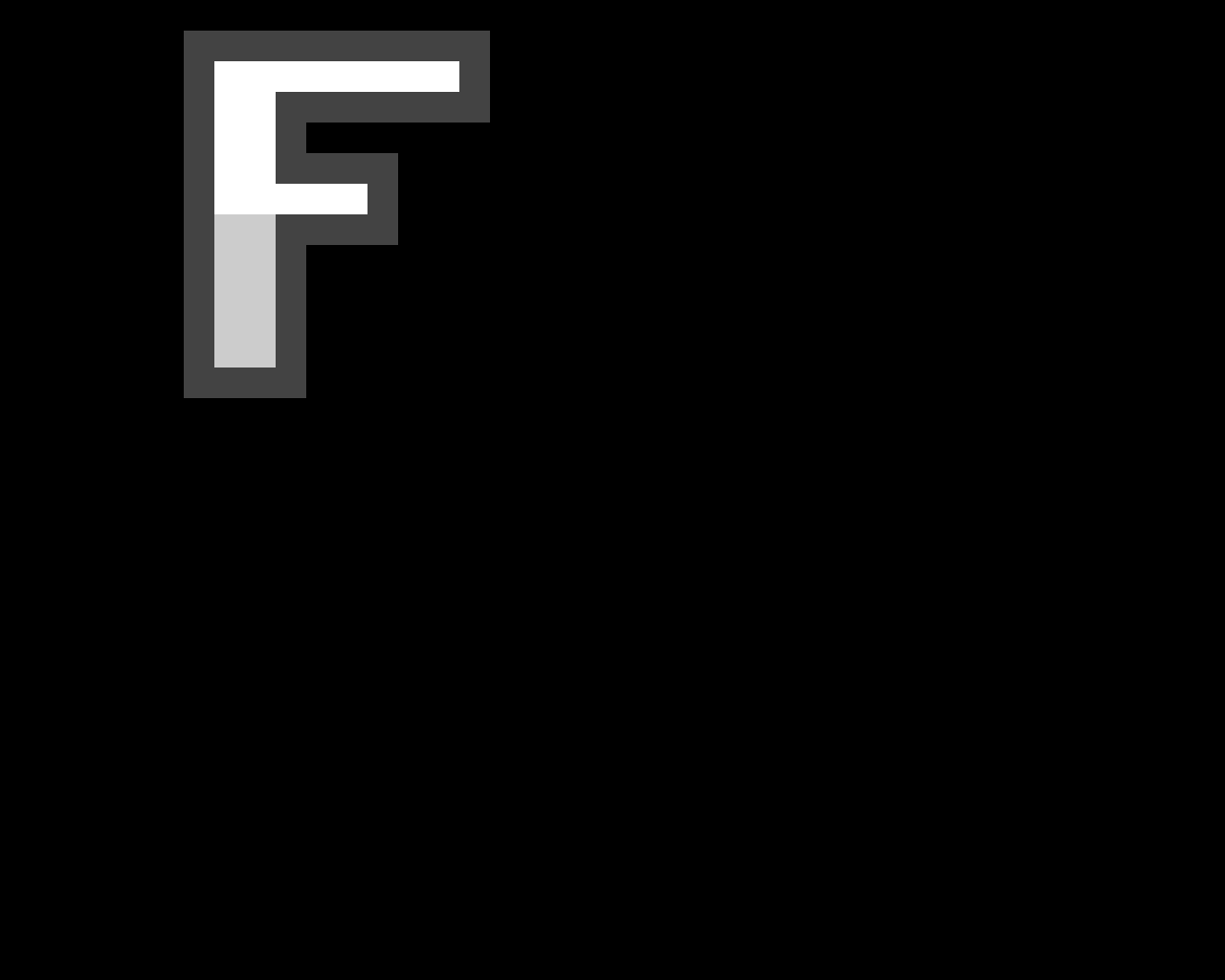 pixel letter F