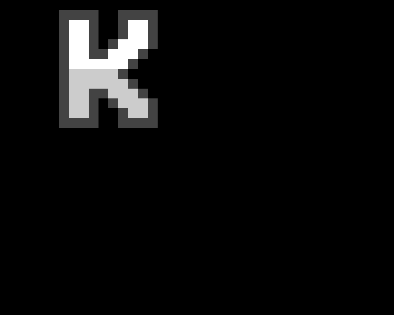 pixel letter K