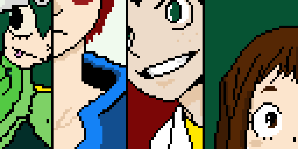some of my hero academia characters .
