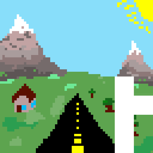 The never ending road