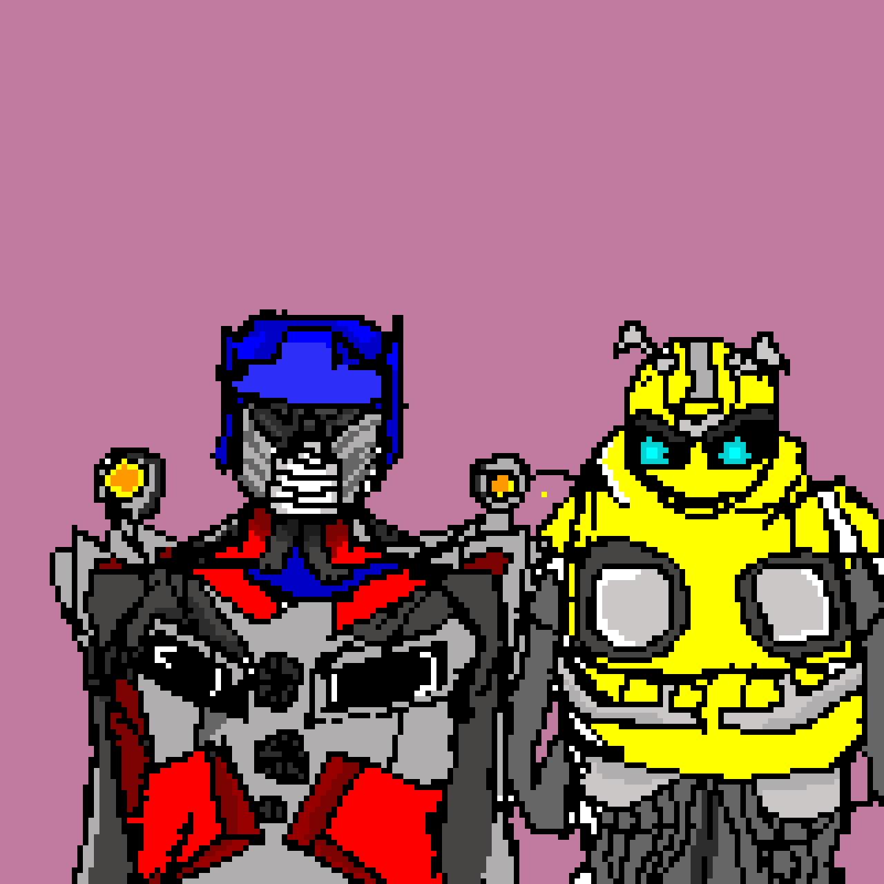 Optimus Prime and Bumblebee (tech contest)