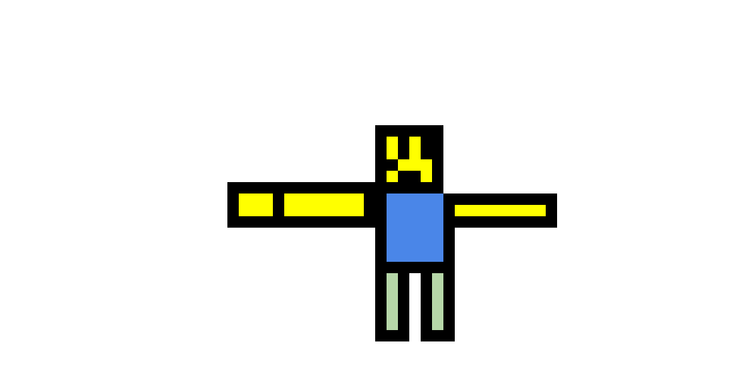 A 3D noob t pose