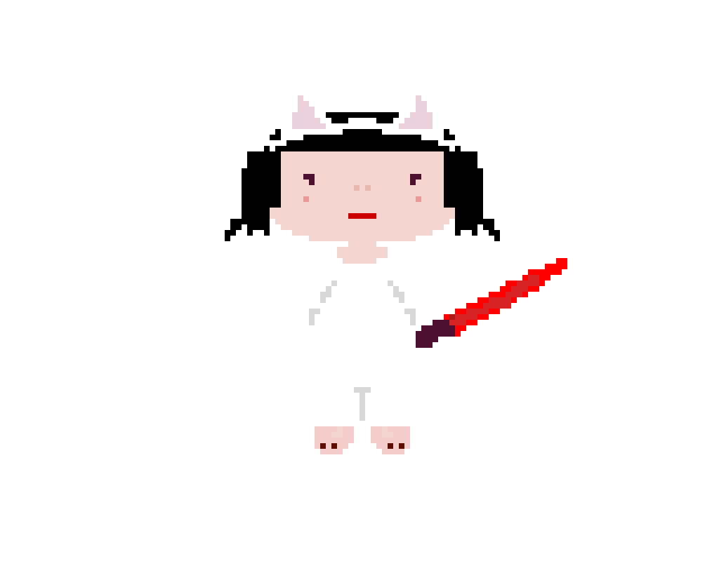 Cat Girl with a Sabre