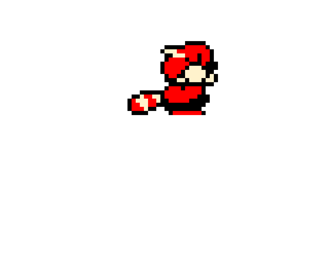 SMB3 Racoon Mario Crouching Sprite