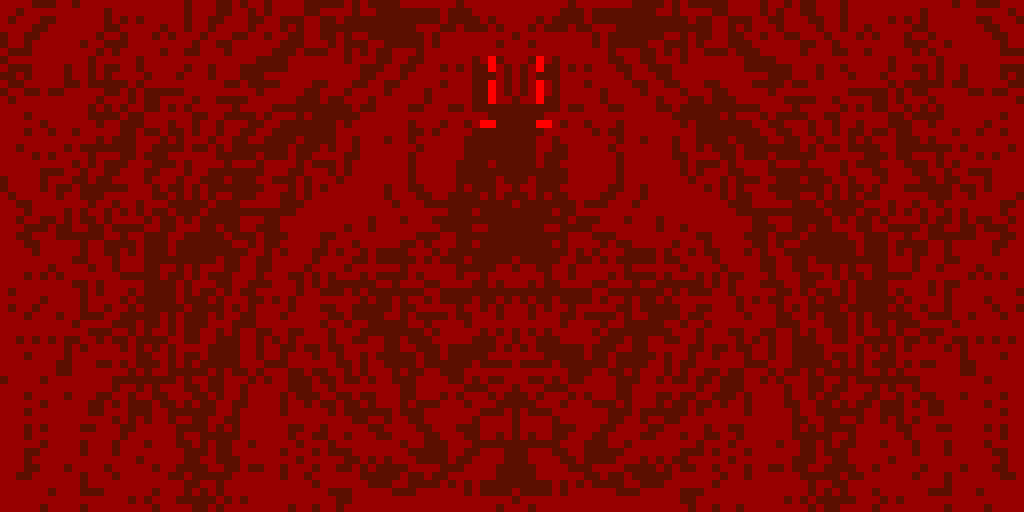 demon being born (why is my artwork upside down?)