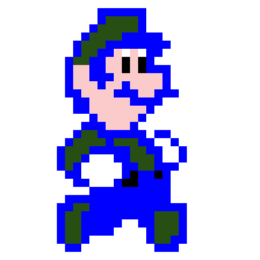 pixel luigi from super mario bros.2