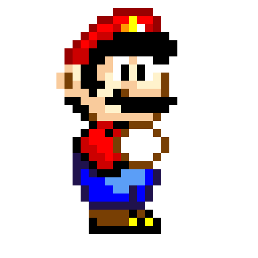 pixel mario from super mario wold
