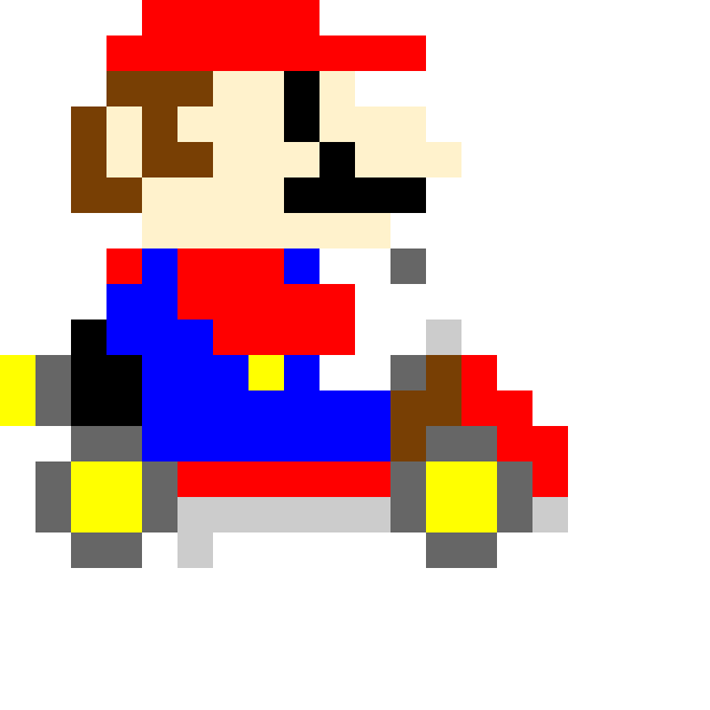Pixel mario kart (you can edit if you want)
