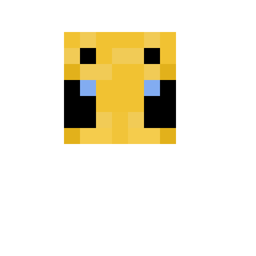 Minecraft bee face pixel art