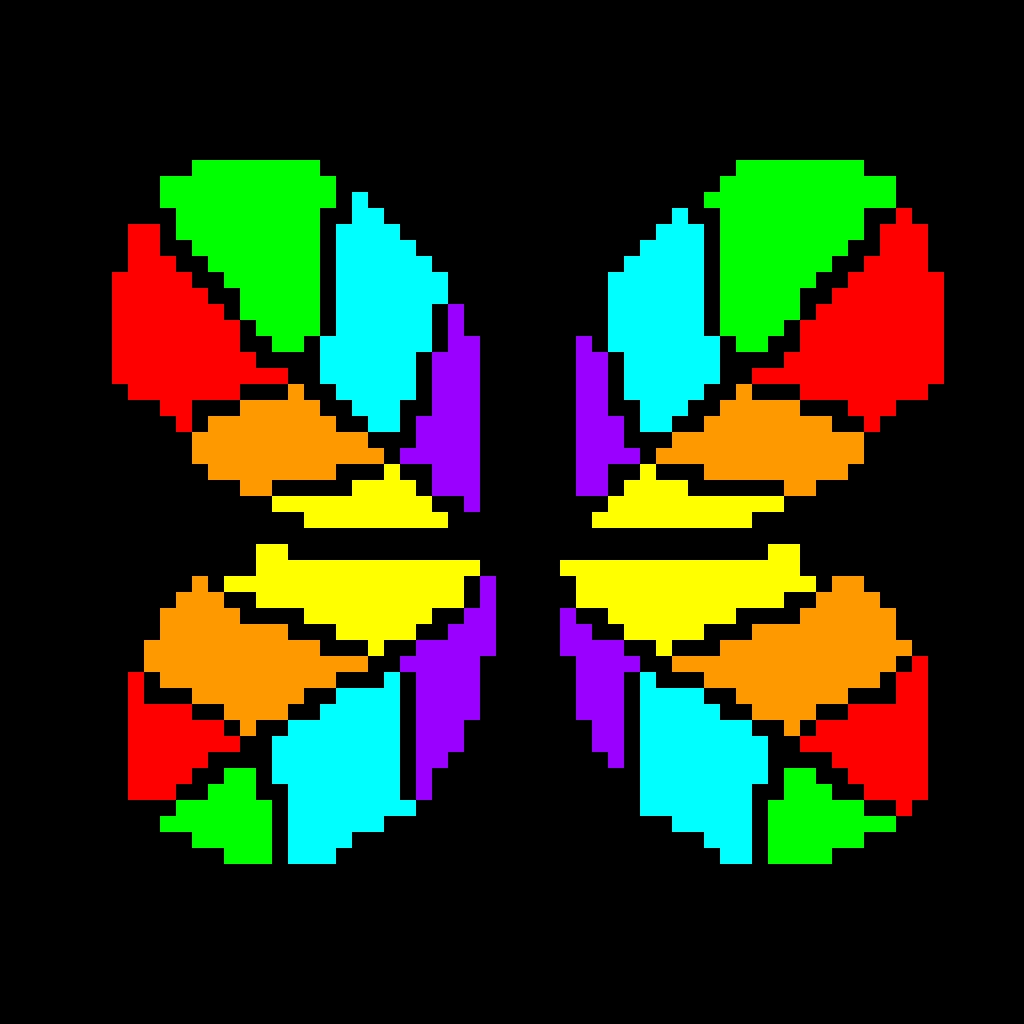 Rainbow Butterfy