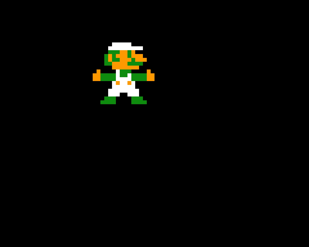 SMB1 Luigi Giving two Thumbs up.