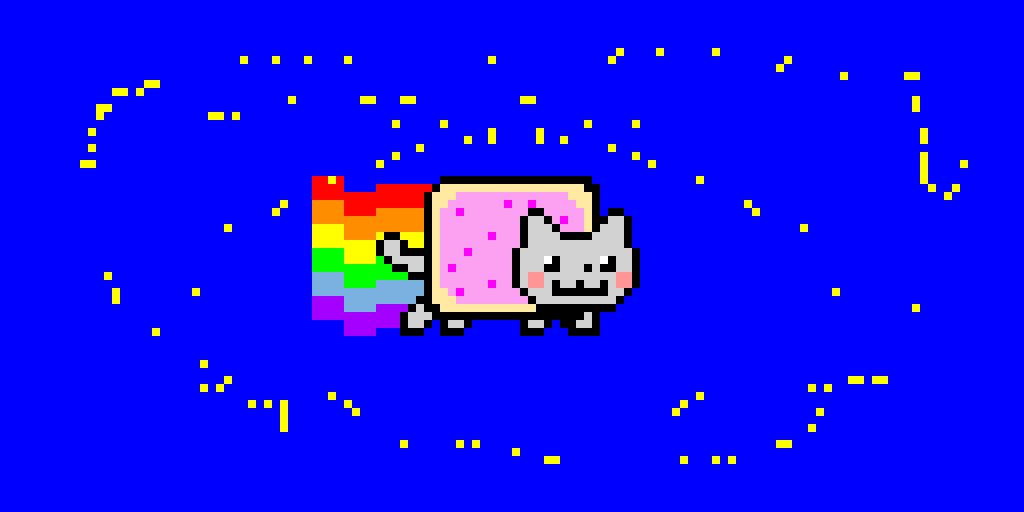 nyan cat just traveled to space