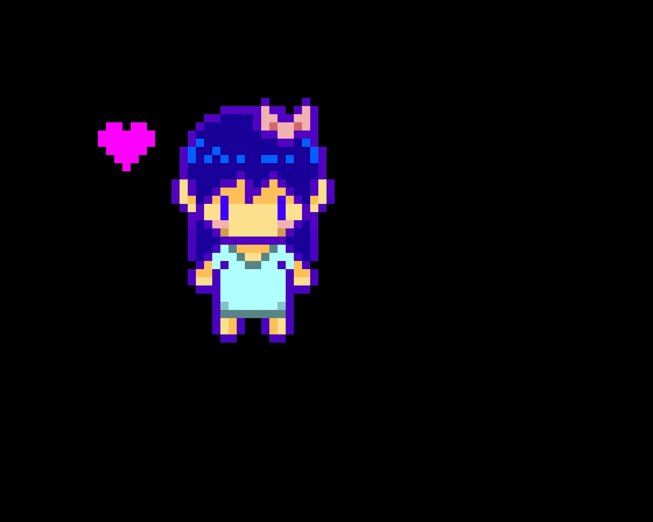 Anime girl blue edited
