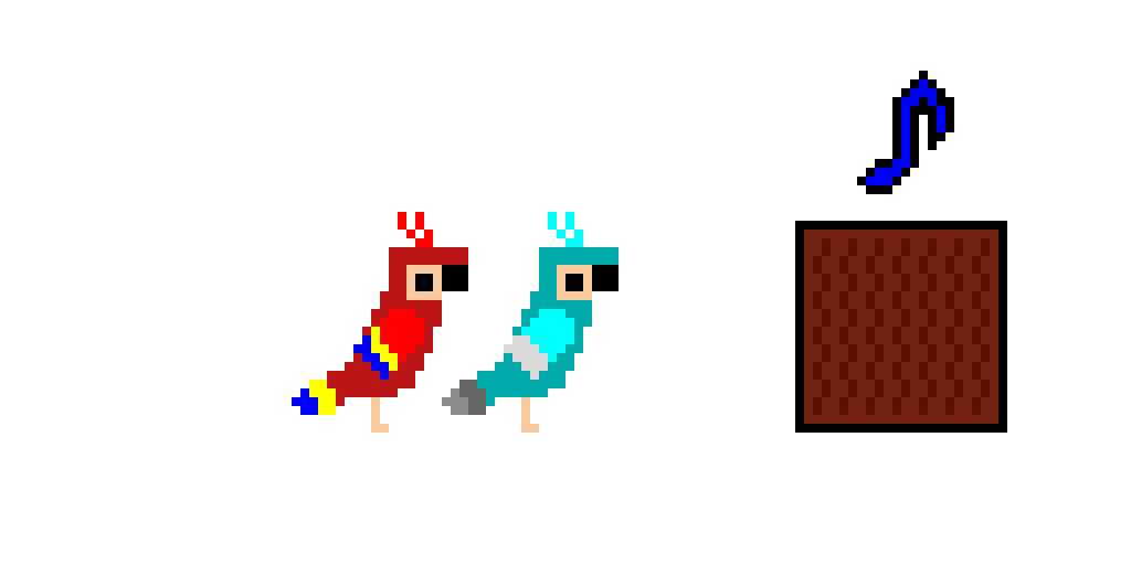 parrots and the jukebox (bird contest)