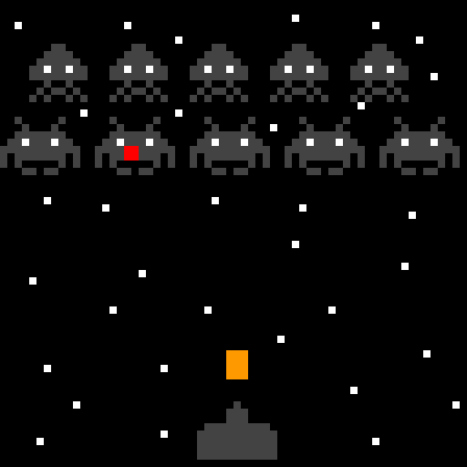FLOUDOFH the red nosed space invader