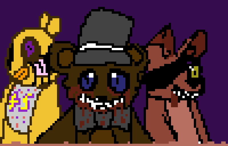 Freddy Fazzbear,Chica,and Foxy