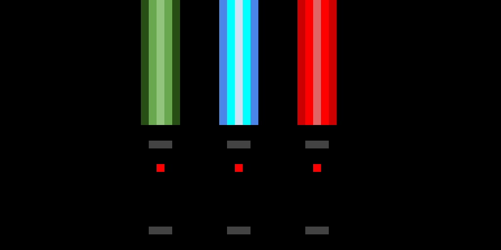 Three Light Sabers.