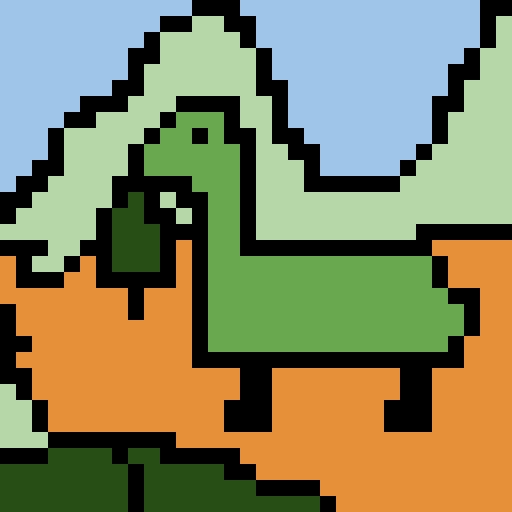 The amazing green world of tiny dino