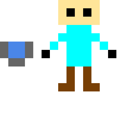 minecraft steve with a water bucket