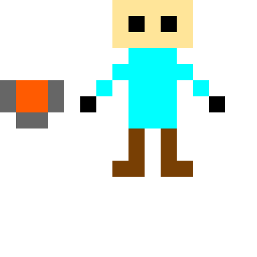 minecraft steve with lava bucket