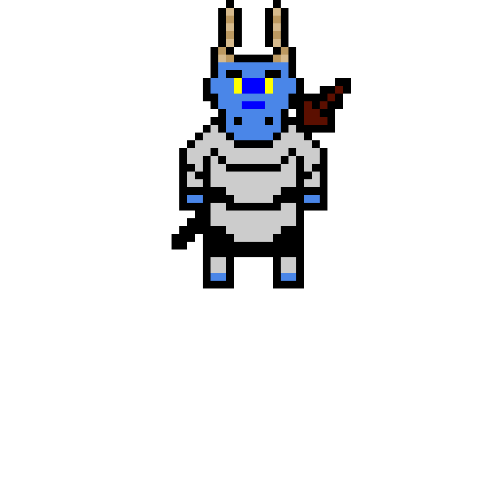 blue dragonborn knight